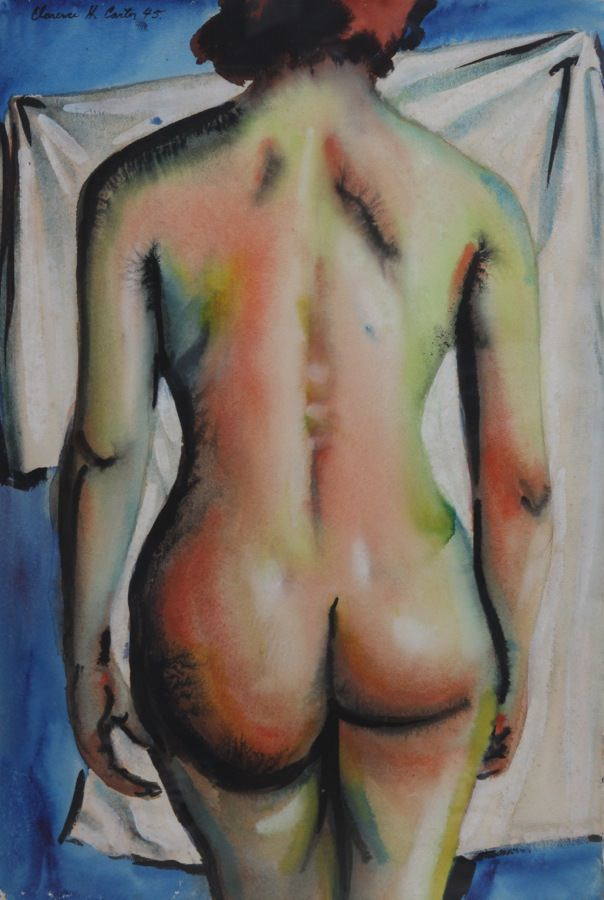 Walking Nude by Clarence Holbrook Carter
