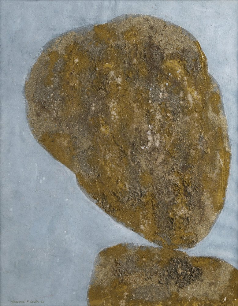 Abstract acrylic and sand on scintilla Painting:
