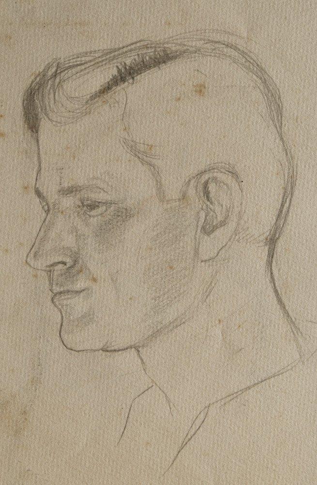 Figurative Portrait Graphite on Paper:
