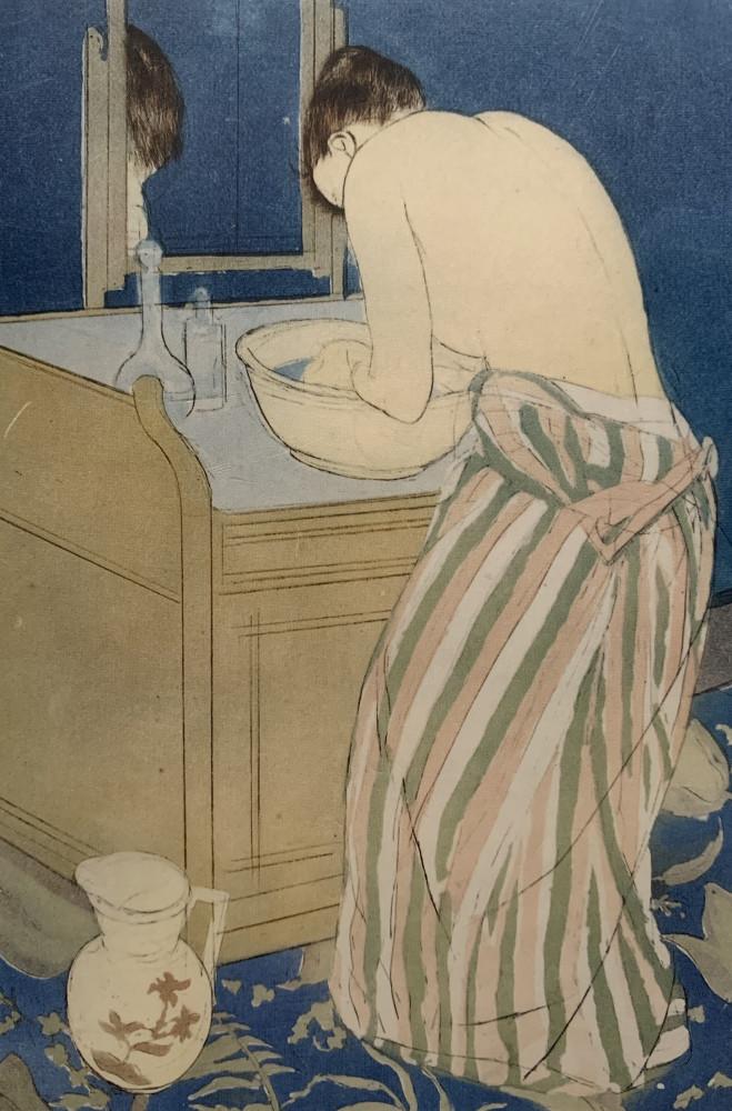 Woman Bathing (La Toilette) by Mary Stevenson Cassatt