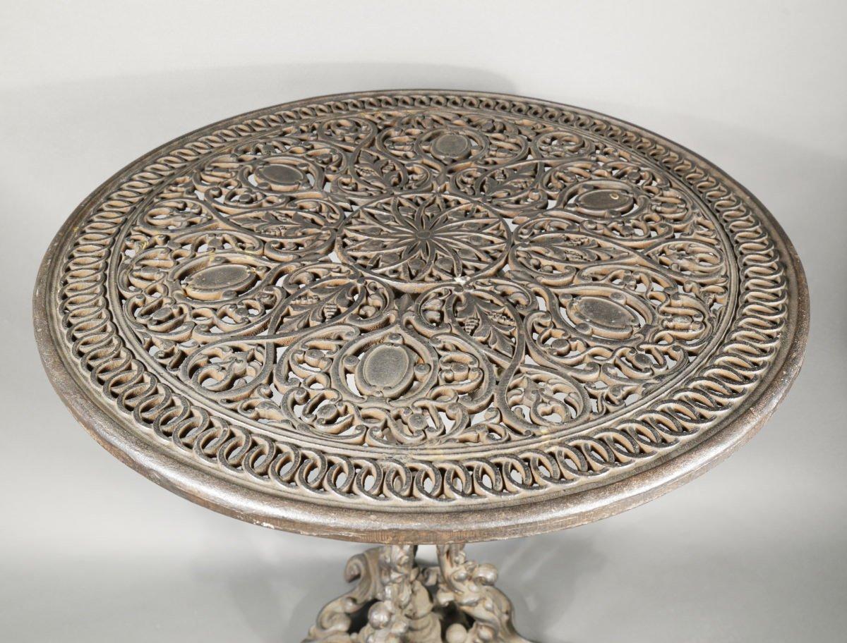 Cast Iron Garden Table by 19th Century American School