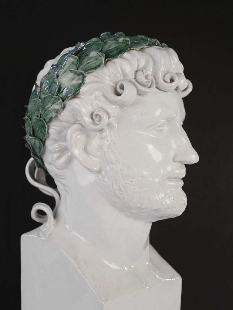 Figurative Glazed Ceramic Sculpture: