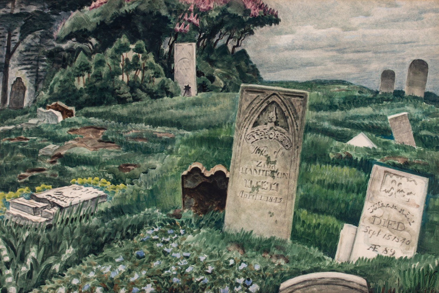 In Memoriam by Charles Burchfield