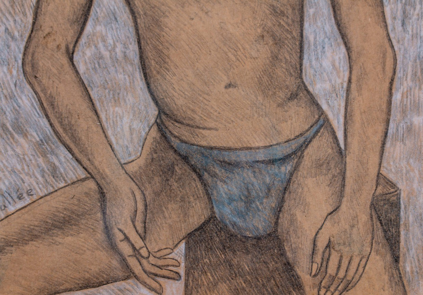 Figurative Colored Pencil on Paper Drawing: