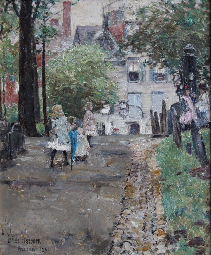 Copp's Hill, Boston by Childe Hassam