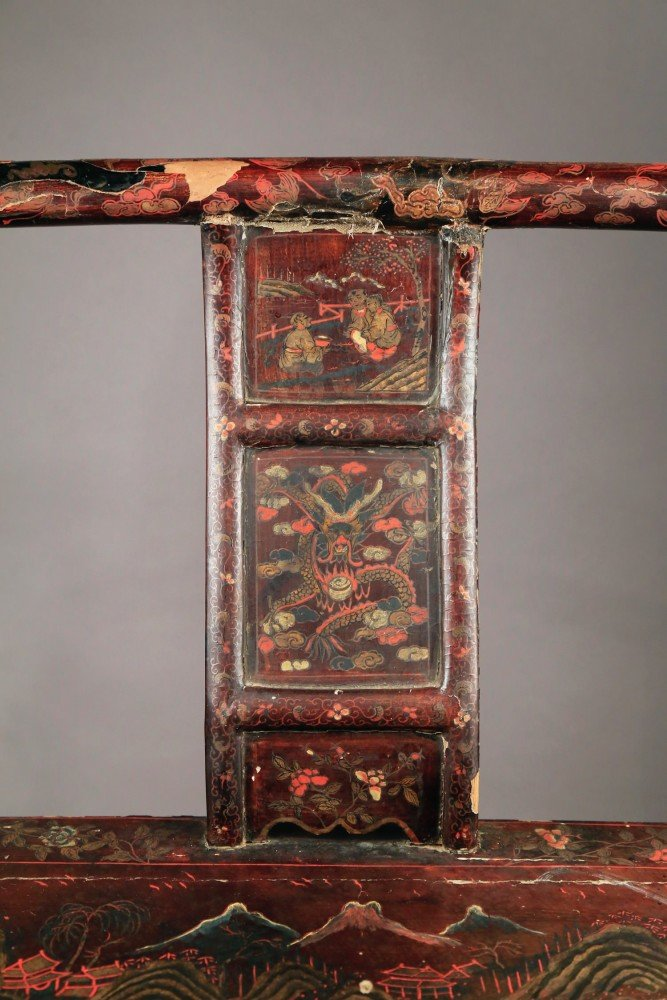 Decorative Art: Chinese Lacquer Armchair