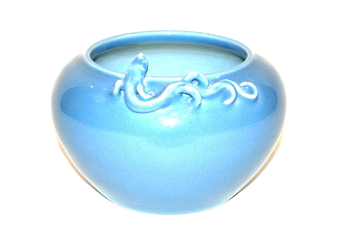 A Chinese Claire de Lune Glaze Dragon Vase