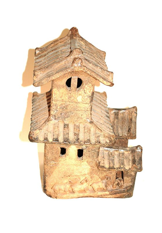 A Chinese Pottery Model of a House, Han Dynasty