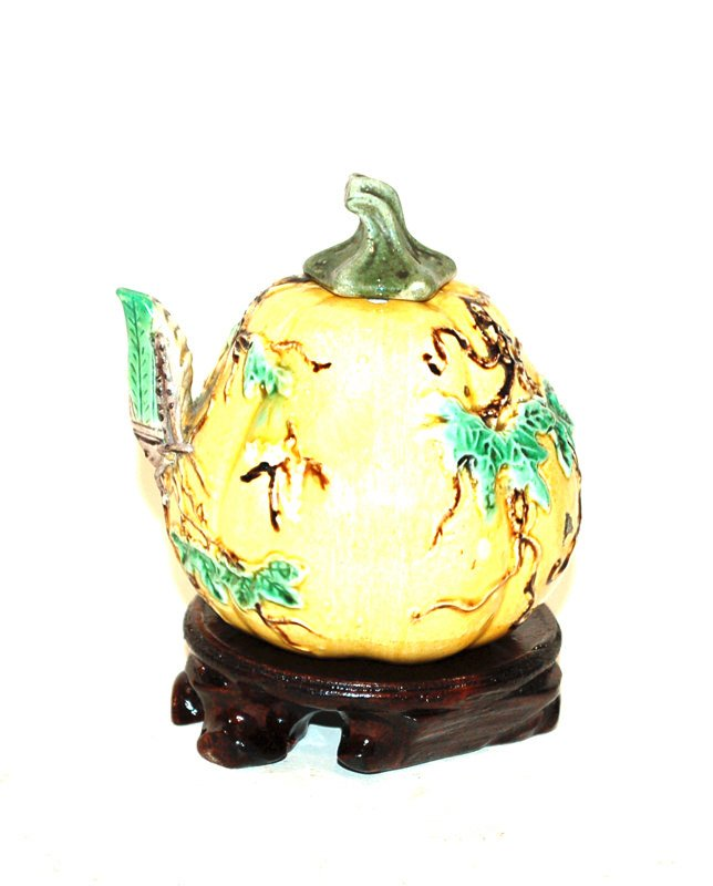 A Chinese Water Dropper, Gourd Form
