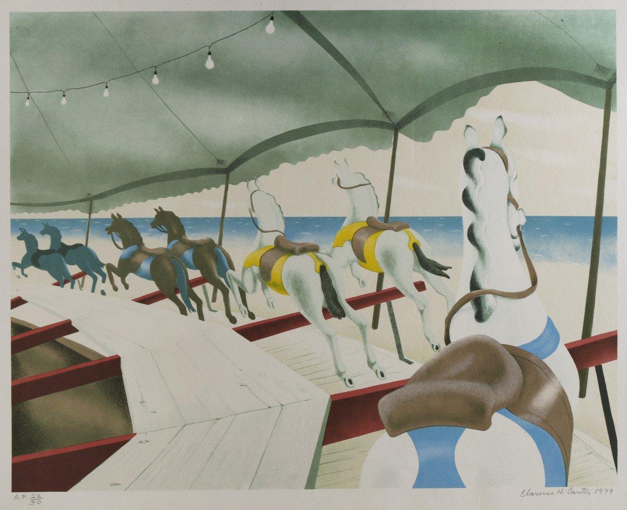 Animal Landscape Silkscreen Print: