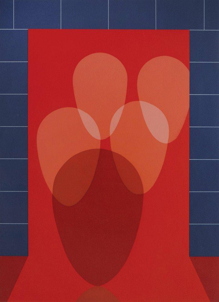 Abstract Silkscreen Print: