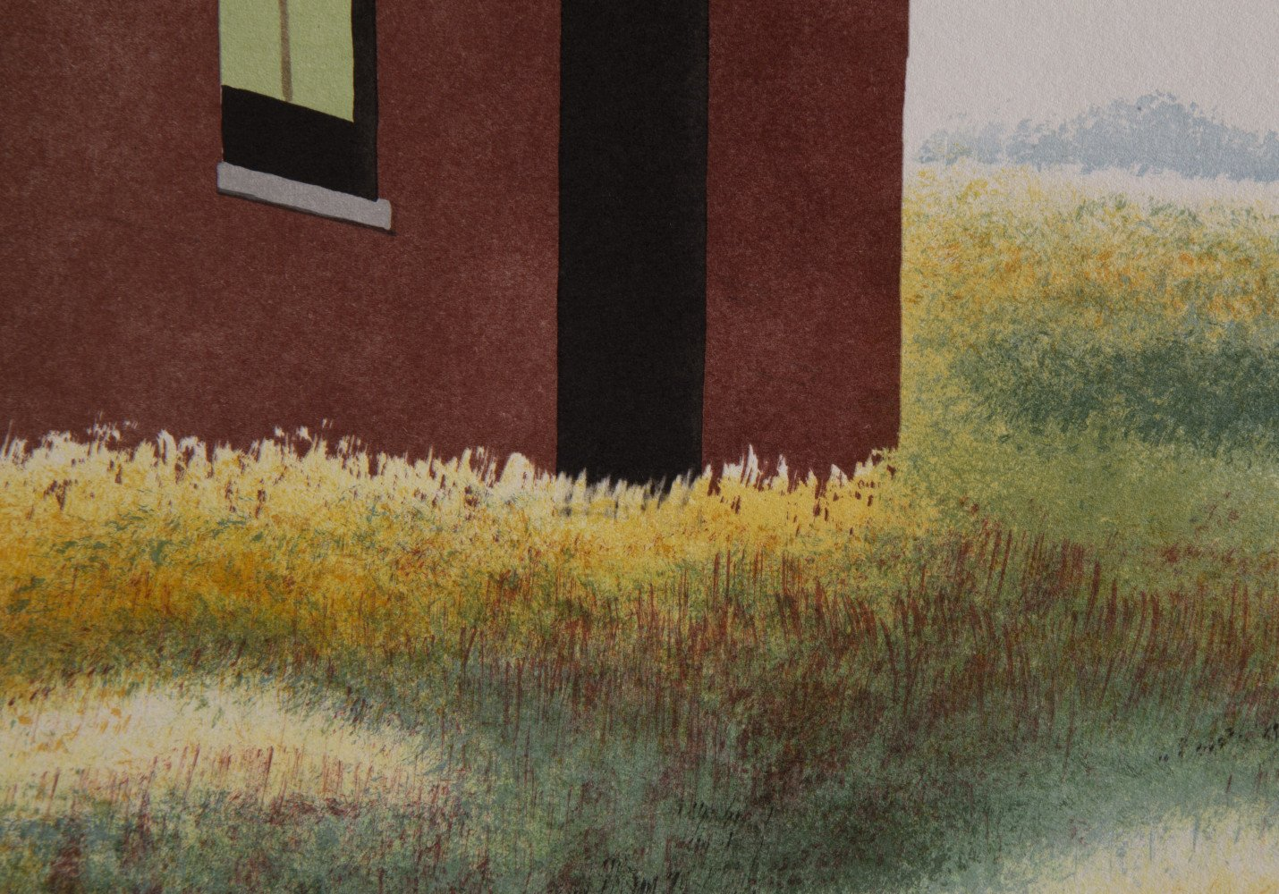 Landscape Lithograph Print:
