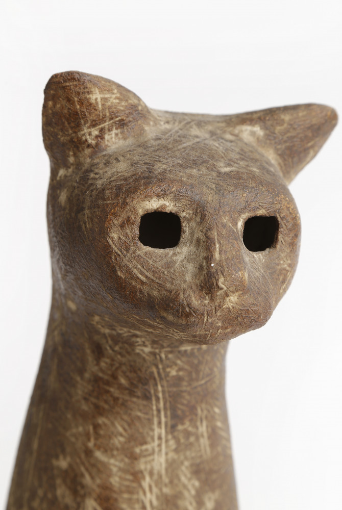 Seated Egyptian Cat by Claude Conover
