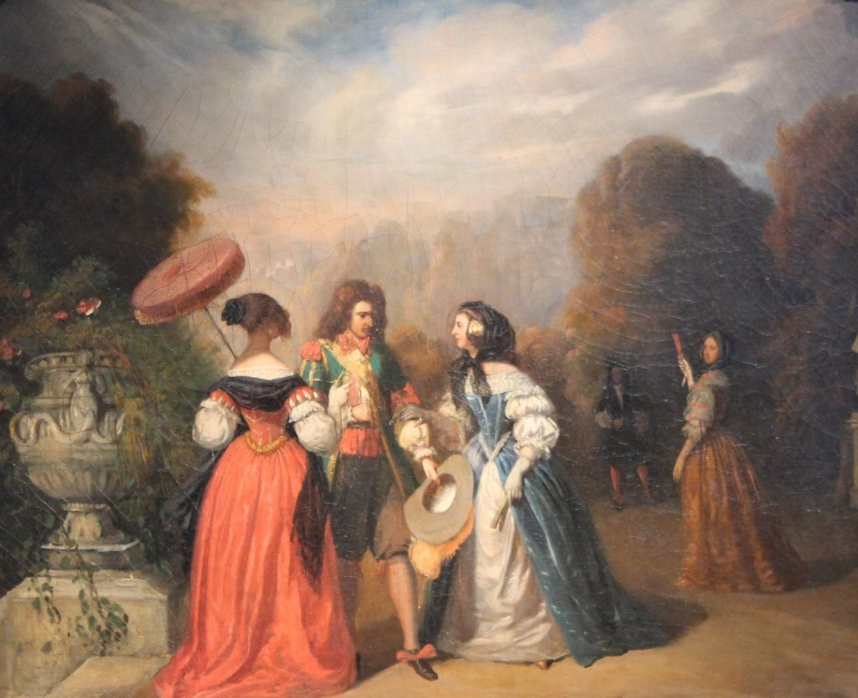 The Conversation by 18th Century Continental School