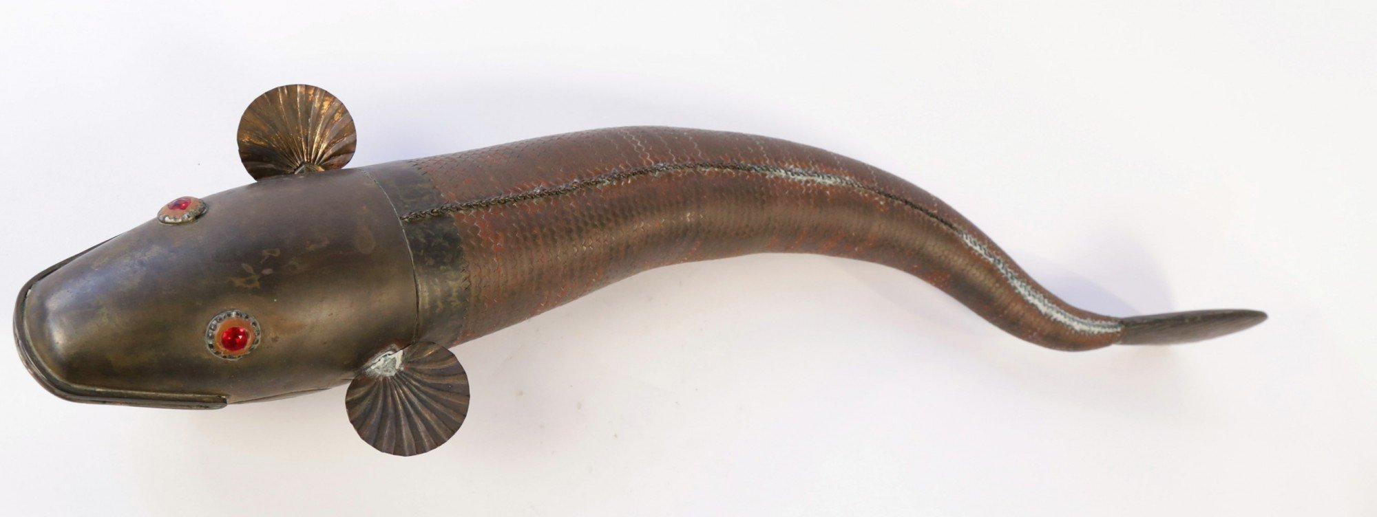 Persian Brass Articulated Fish by 20th Century School