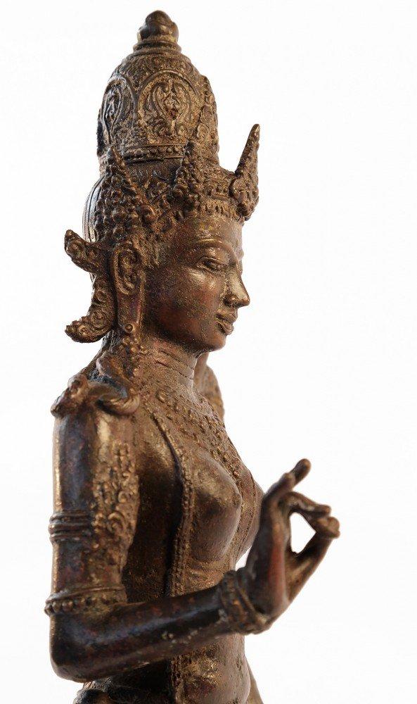 Bronze Rice Goddess by 15th/16th Century Javanese