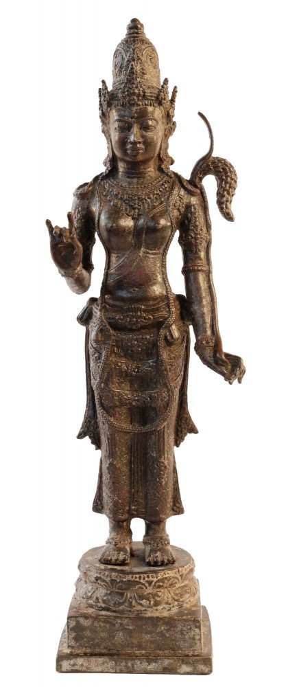 Bronze Rice Goddess by 15th/16th Century Javanese  by 15th/16thc. Javanese