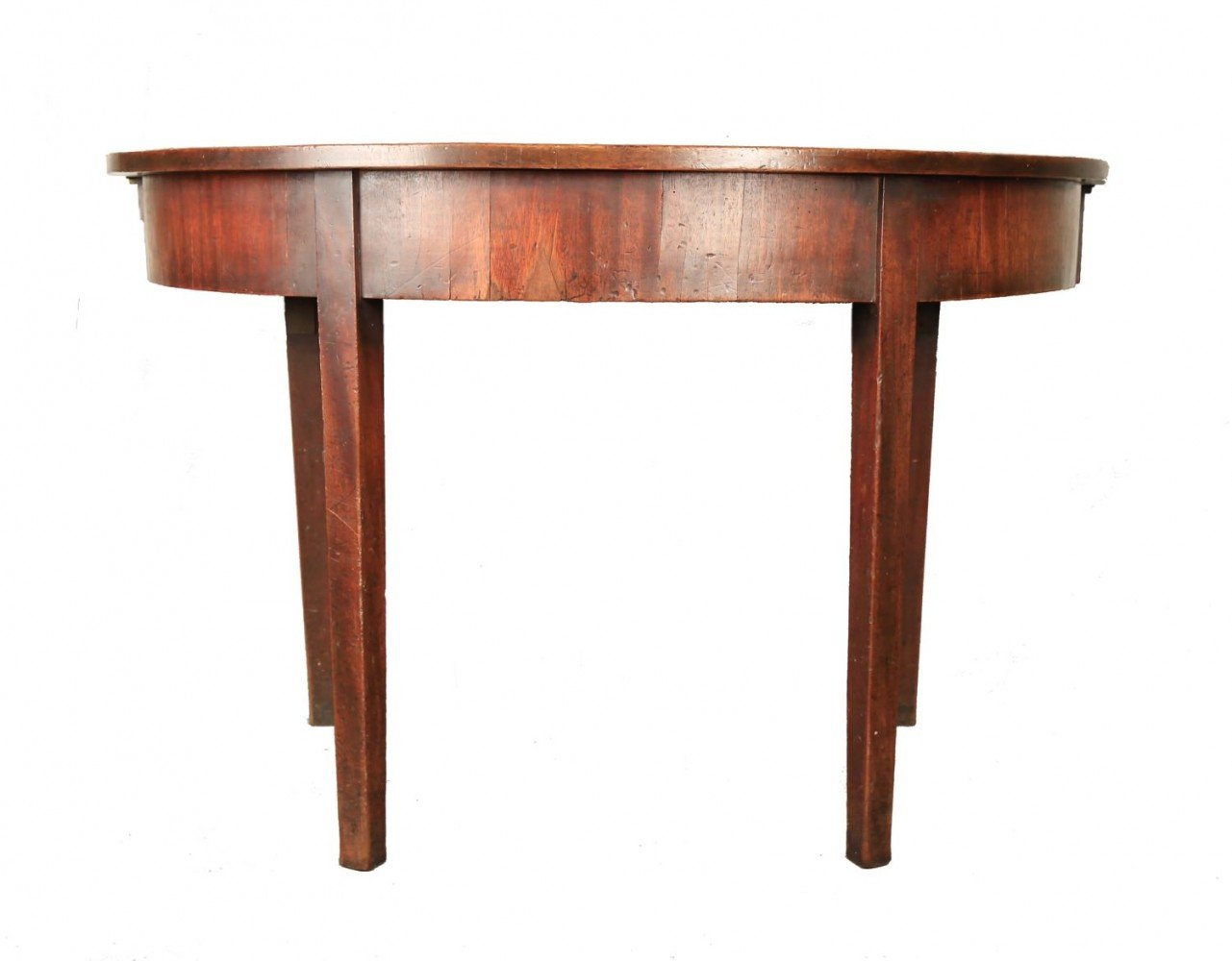 Early 18thc. An English Mahogany Demilune Table