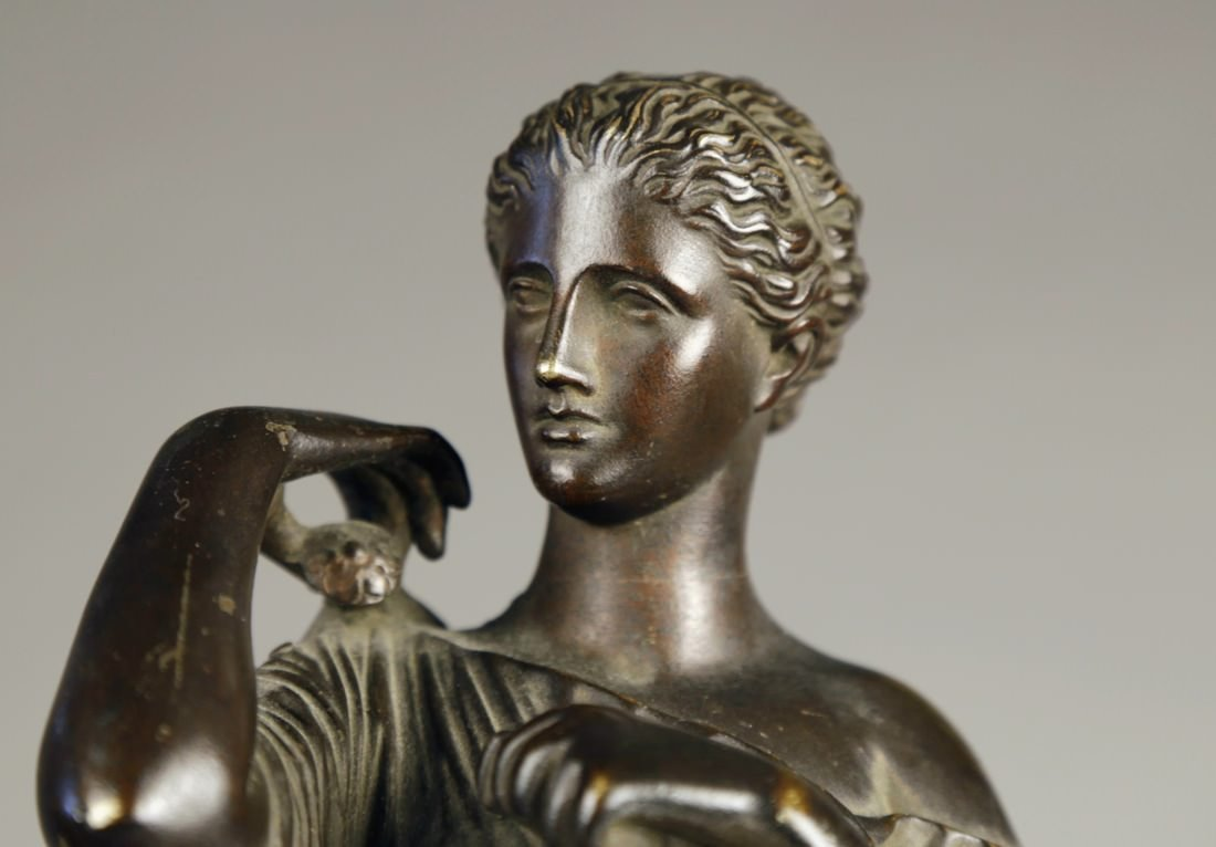 19th Century Bronze Figure of Diana