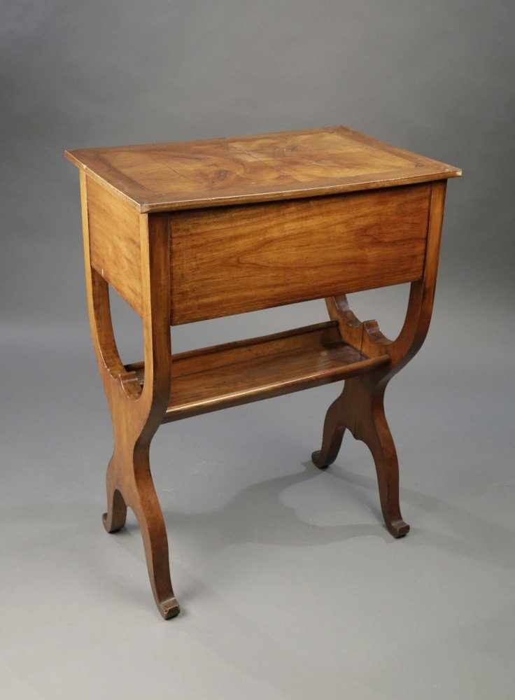 Provincial French Fruitwood Occasional Table, Directoire by 18thc. French School