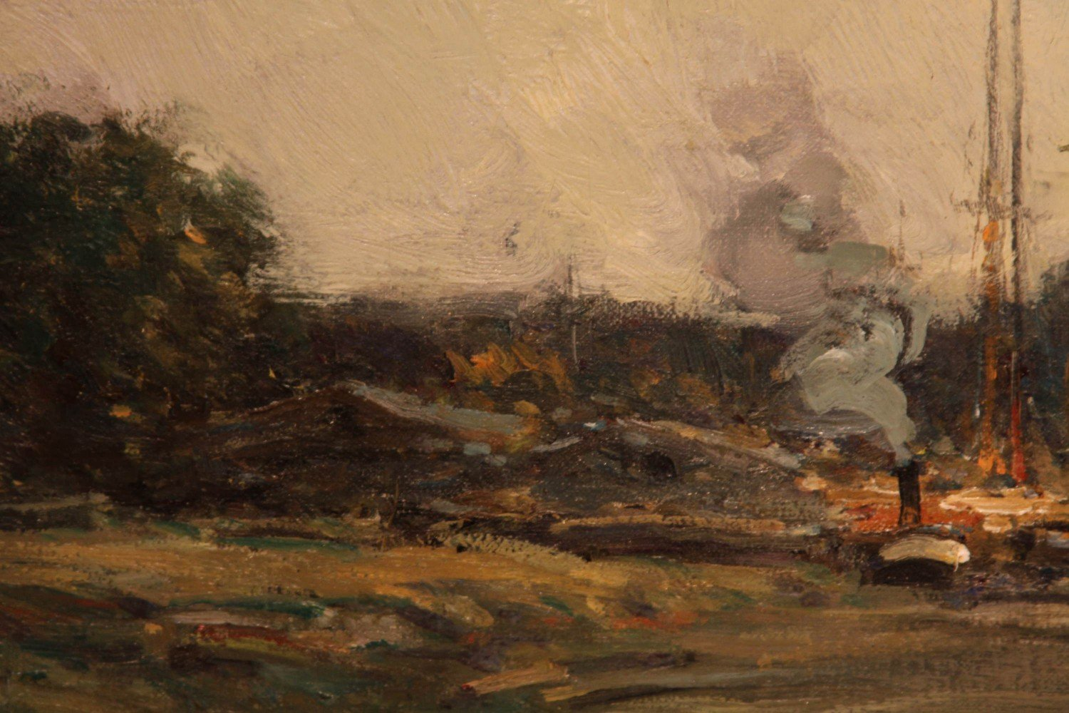 Landscape Oil on Canvas Painting: