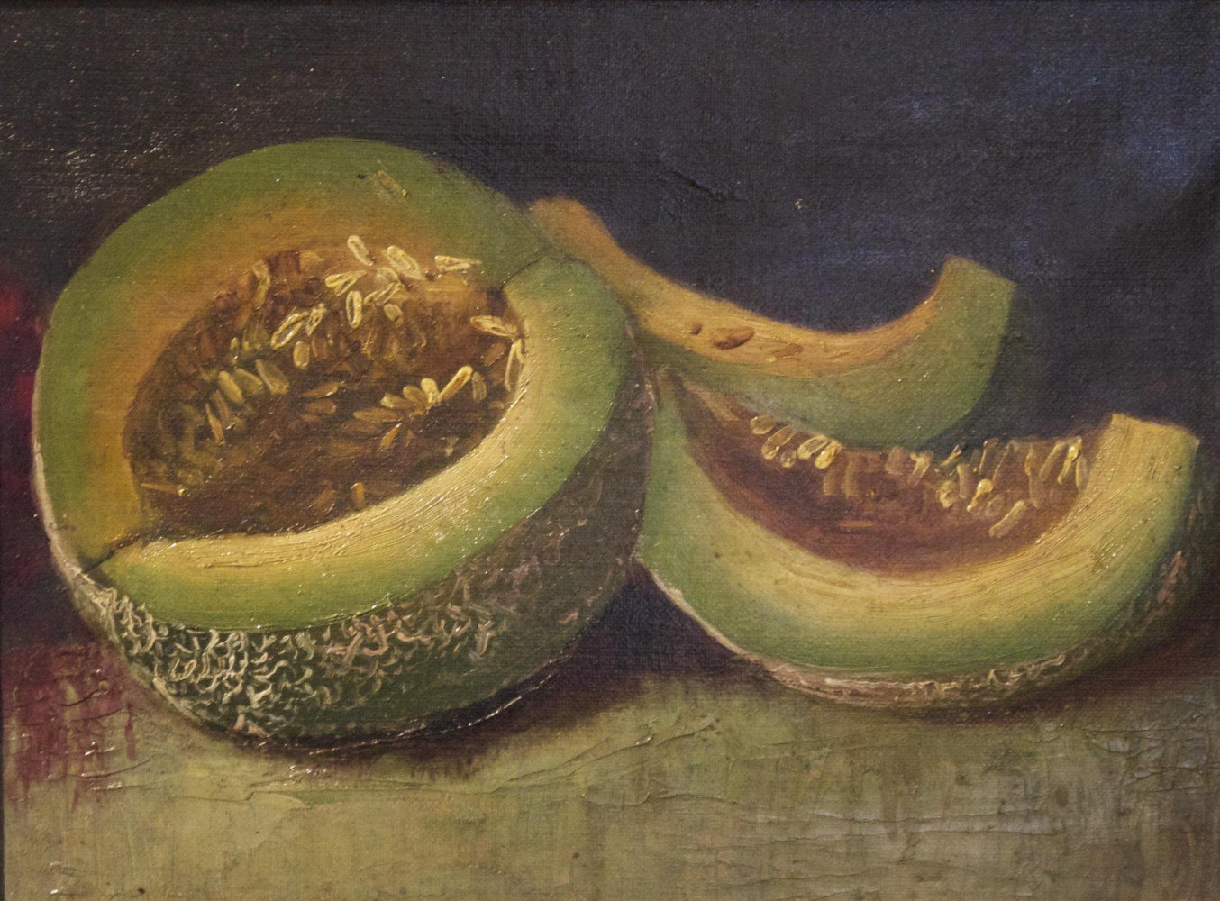 Still Life with Melons by 20th Century School