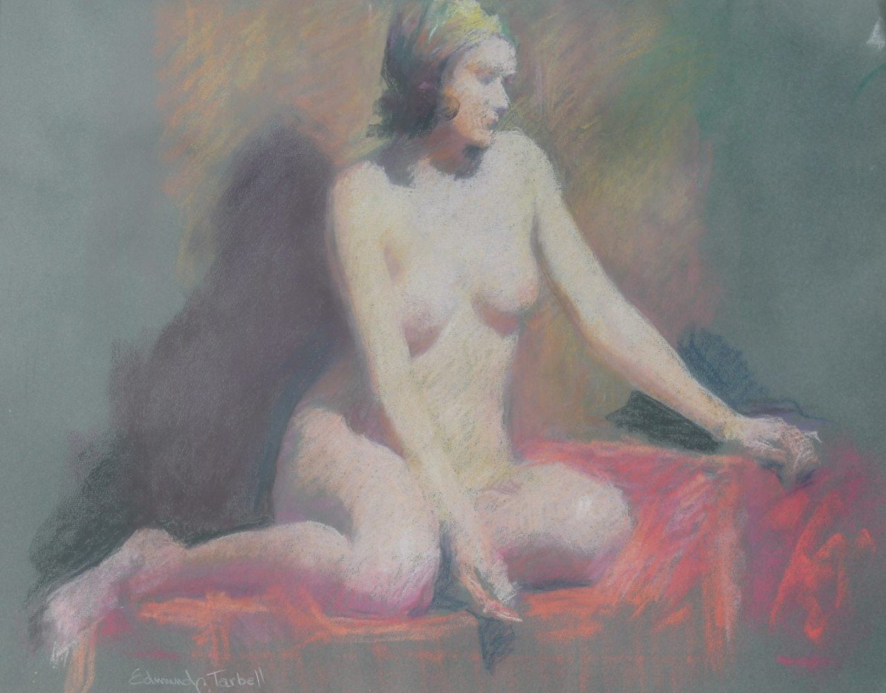 Seated Nude with Turban by Edmund Charles Tarbell