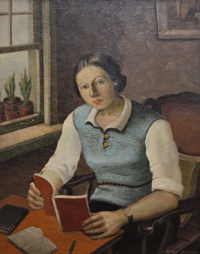 Portrait of a Young Girl, The Student by Eleanor Arnold Clark