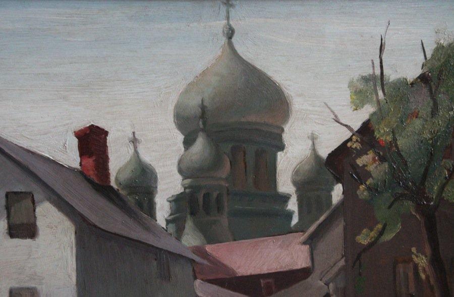 Lofty Domes St. Theodosius Orthodox Christian Cathedral, Tremont, Cleveland, Ohio by Elmer Ladislaw Novotny