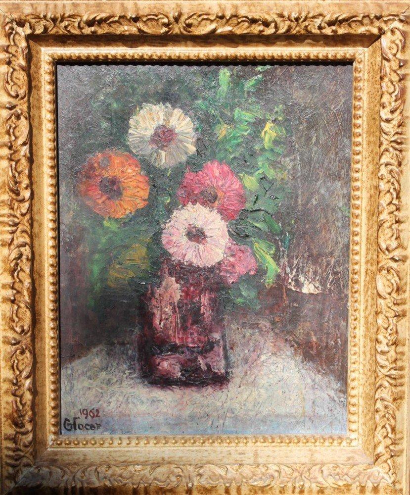 Still Life of Flowers by Emilian Glocar