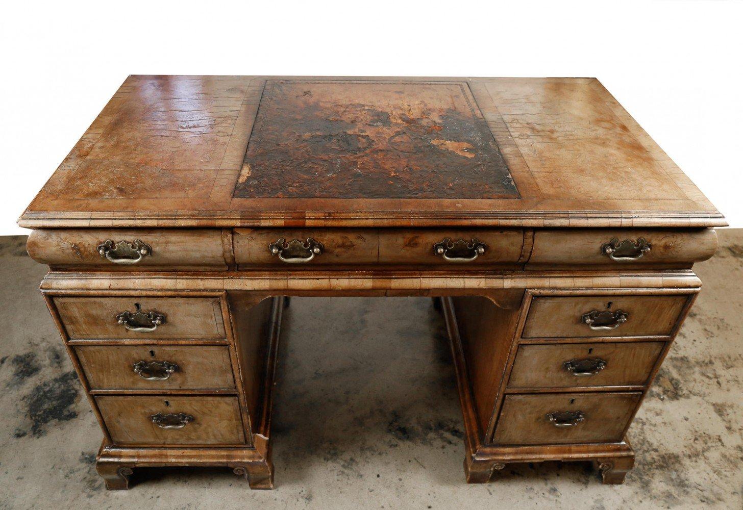 Late 19th Century English Kneehole Desk