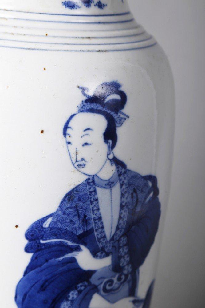 Porcelain: Chinese Blue and White Porcelain Vase