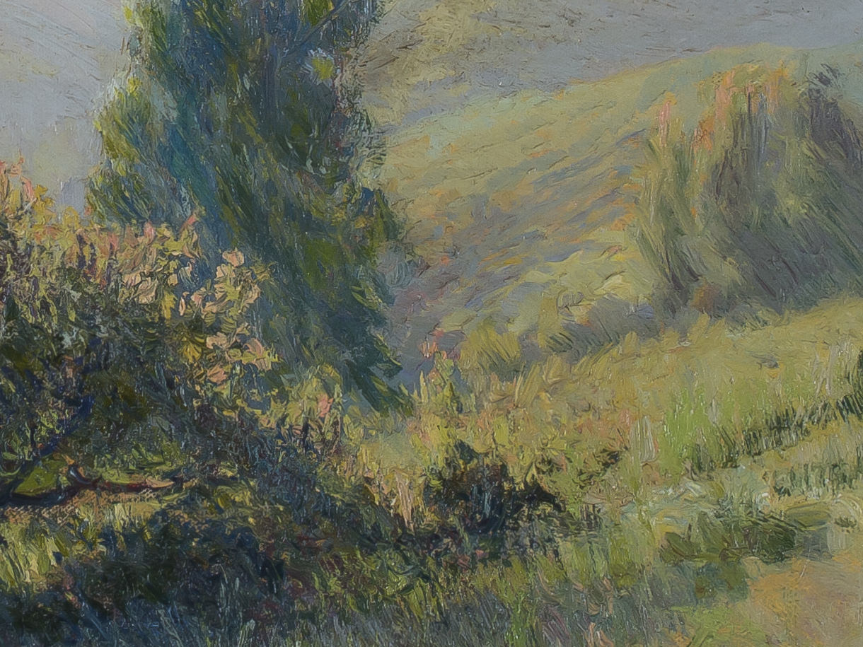 California Hillside at Dusk by Ferdinand Burgdorff