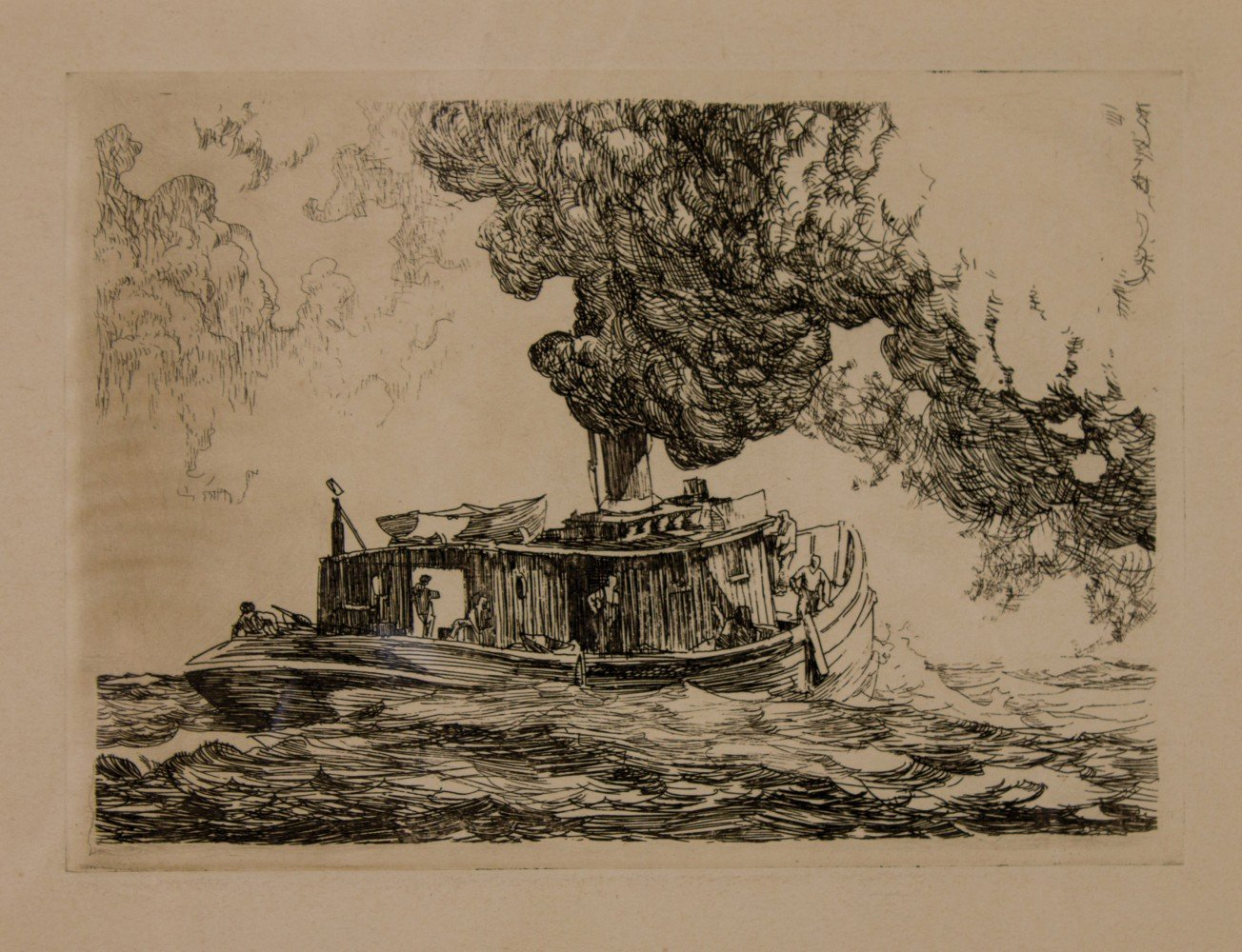 Fish Tug, Lake Erie by Frank Nelson Wilcox
