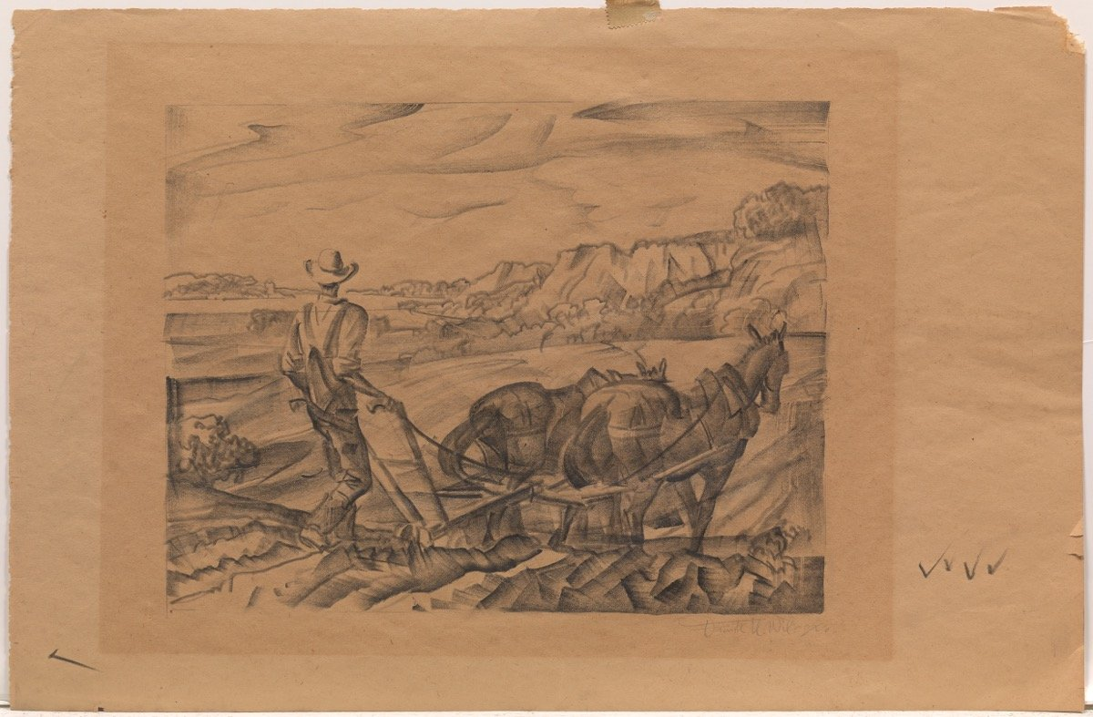 Man Plowing by Frank Nelson Wilcox