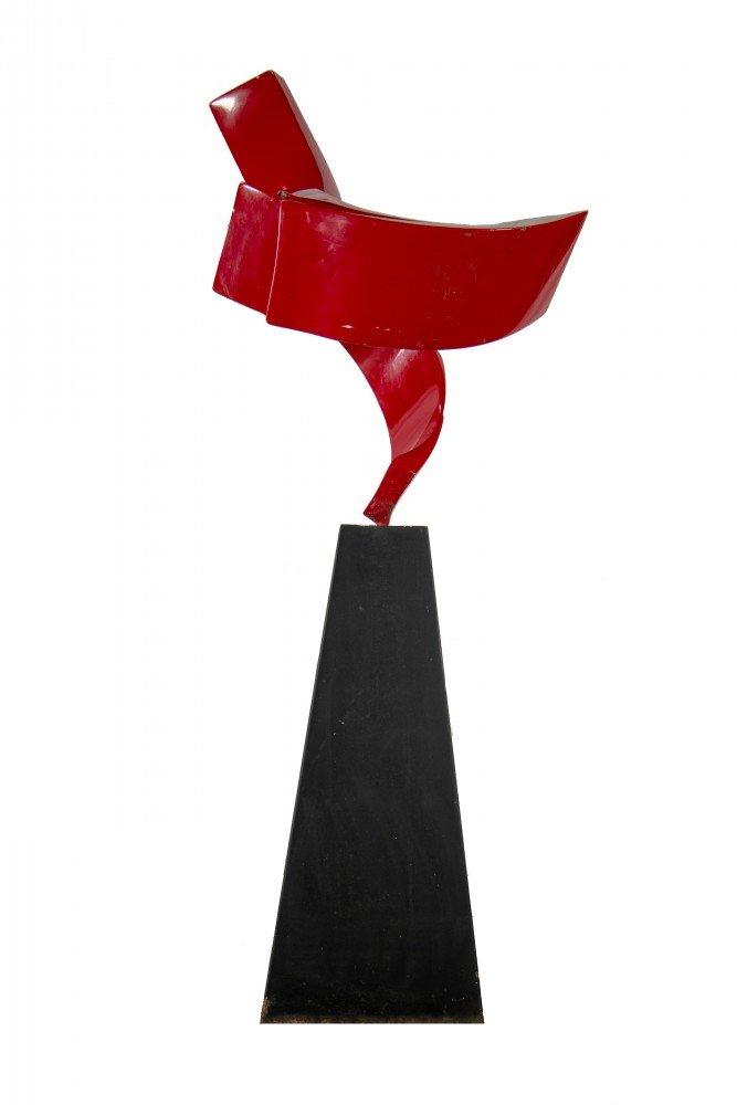 Abstract Metal Sculpture: