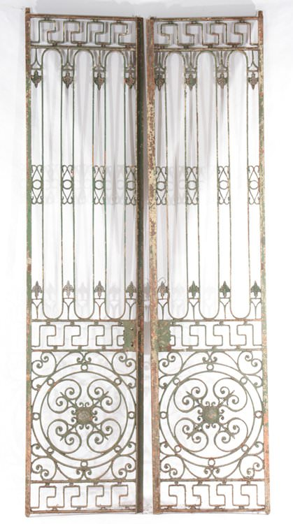 Pair of French Iron Gates, c.1900