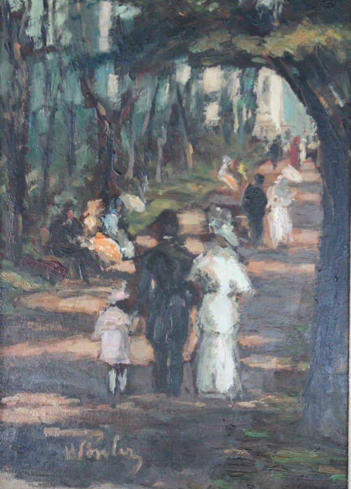 La Promenade by 19th Century American School