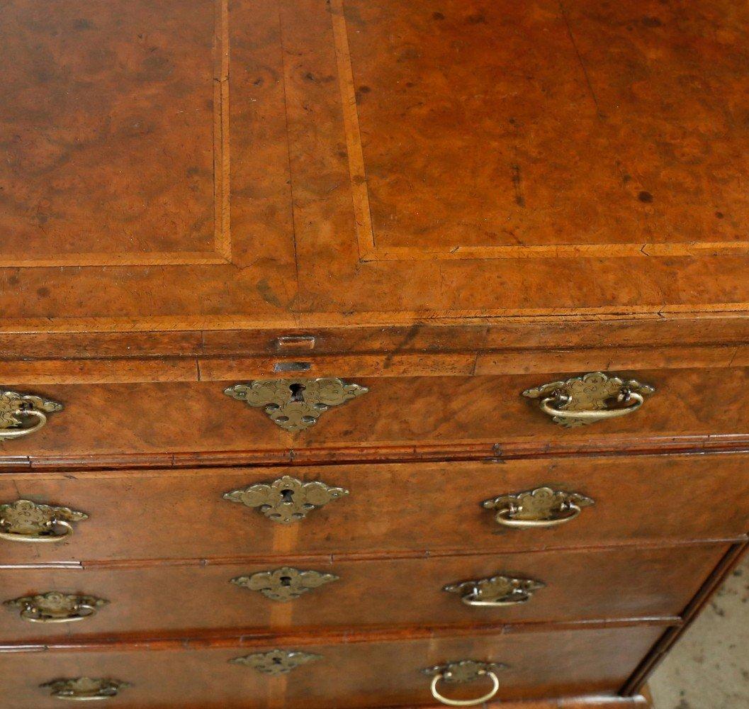 George I Flip Top Walnut Bachelor's Chest, 18th Century British
