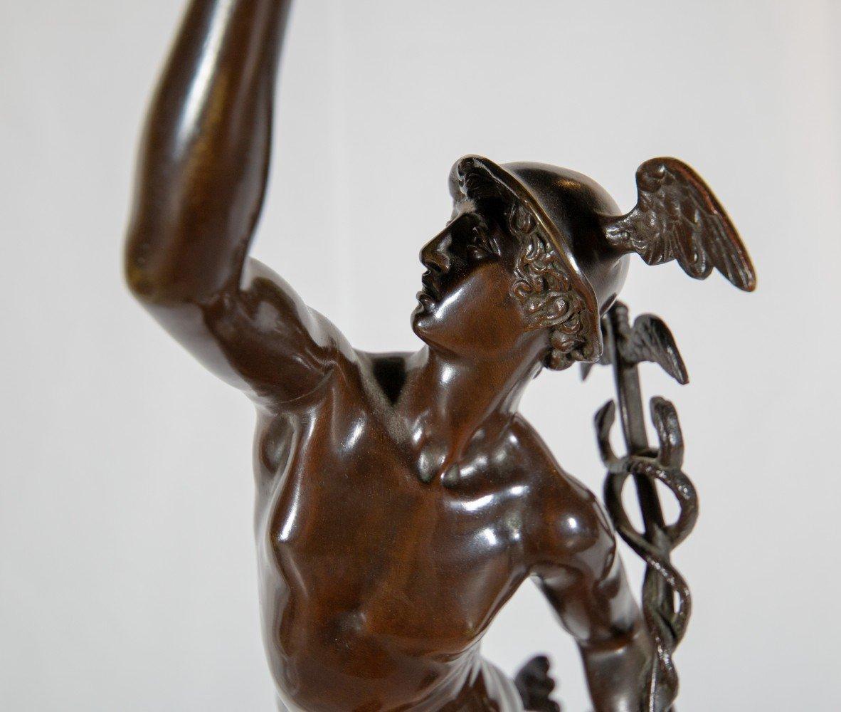 Figurative Bronze, on Bronze Base Statue: