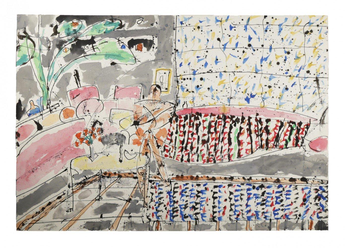 Interior with Figure (Stanley) by Joseph Glasco
