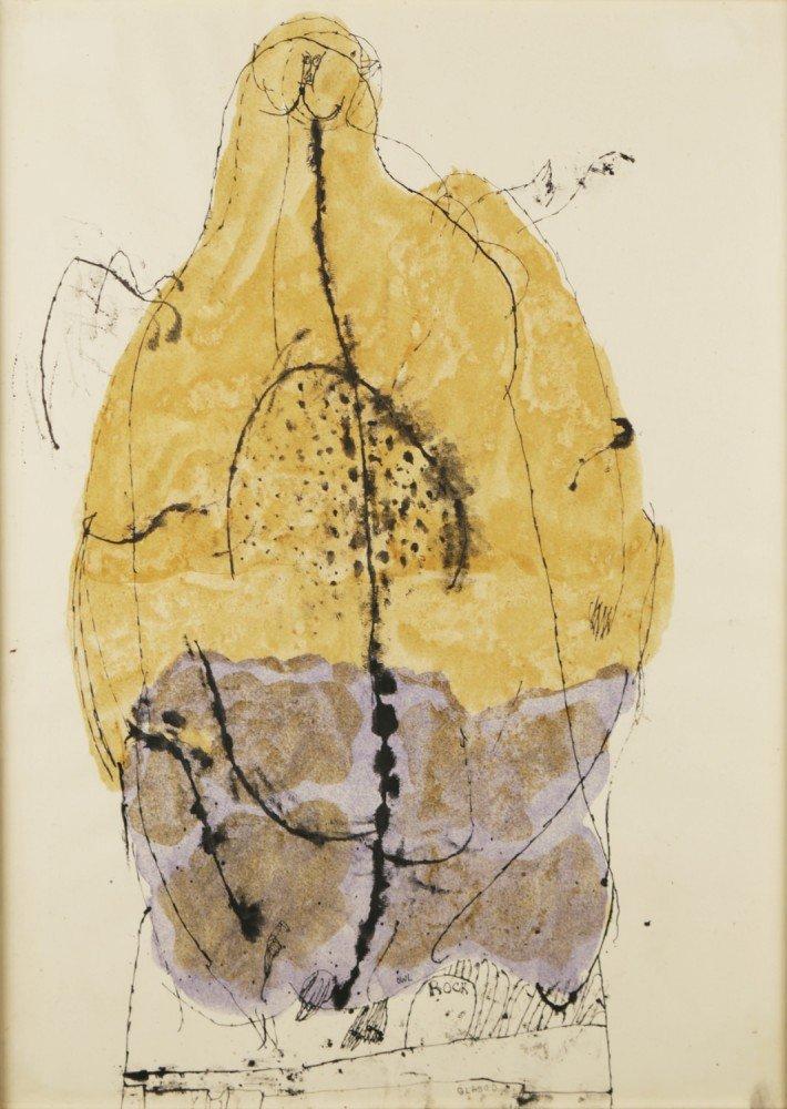 Owl on Rock by Joseph Glasco