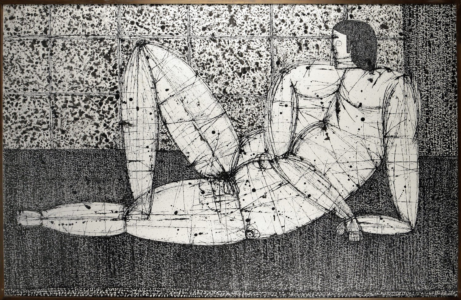 Reclining Figure, facing left (Nikos) by Joseph Glasco