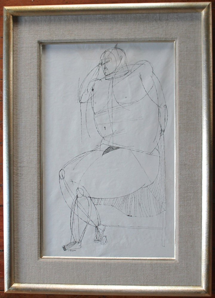 Seated Figure by Joseph Glasco