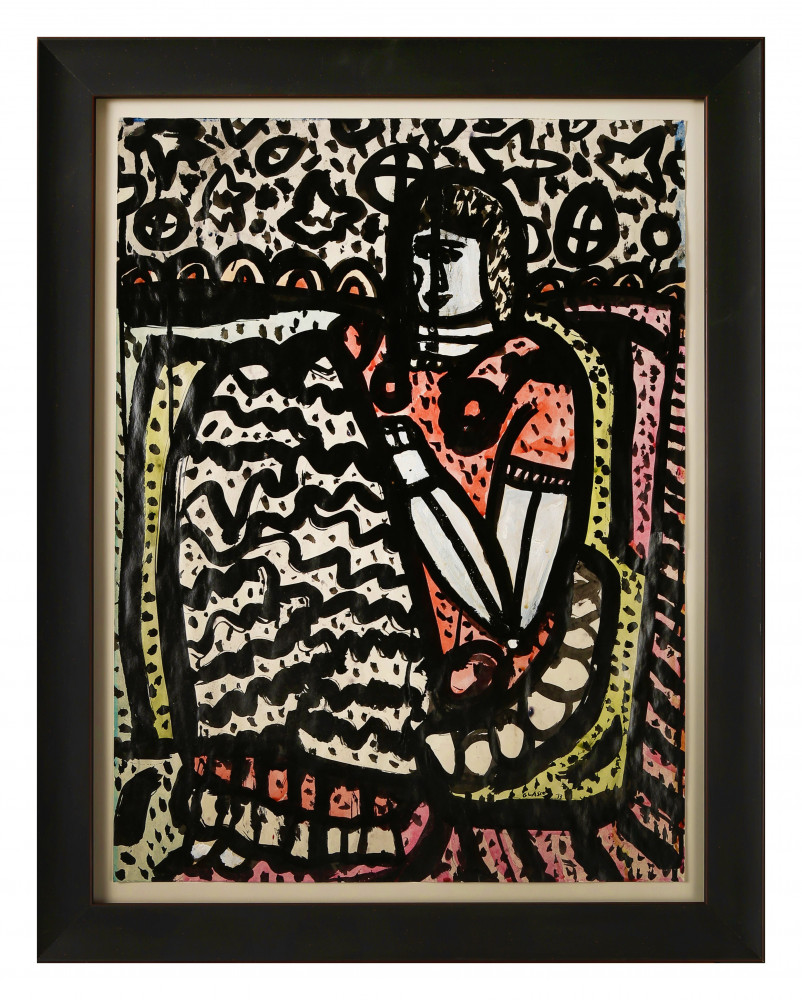 Seated Figure in Red by Joseph Glasco