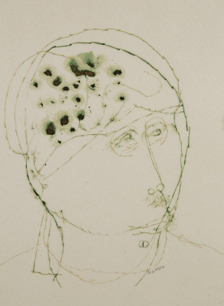 Study of a Head by Joseph Glasco