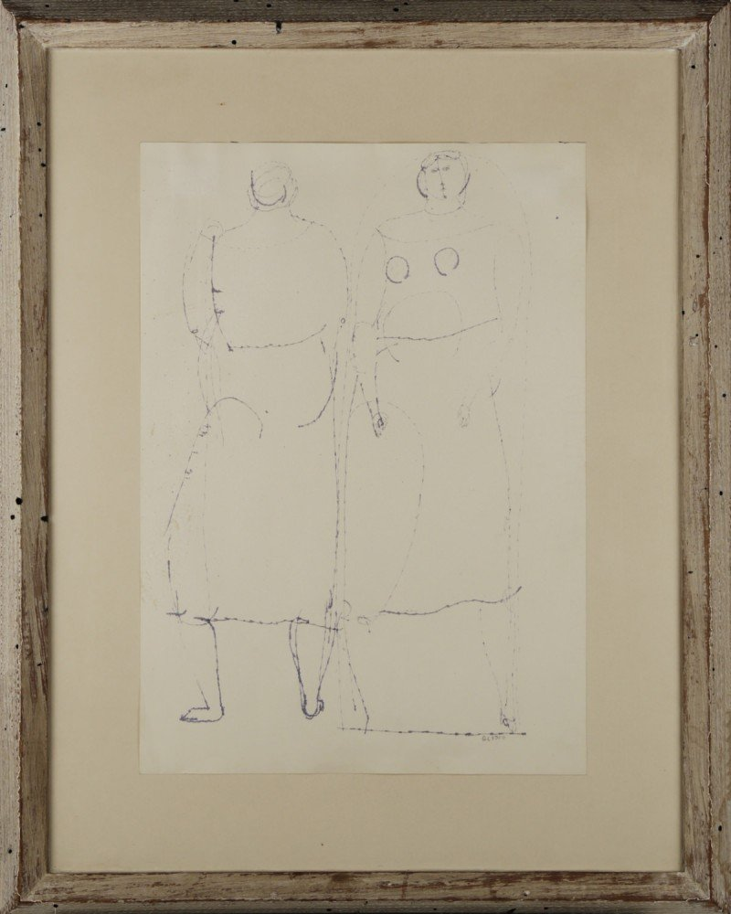 Two Women by Joseph Glasco
