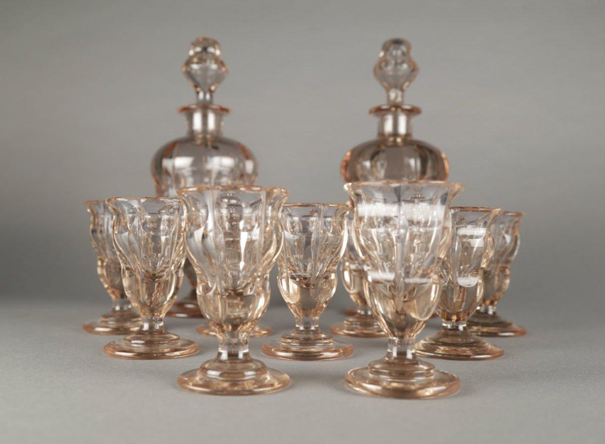 Moser Alexandrite Glass Cordial Set