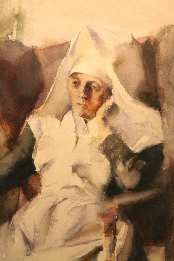 Nun in Contemplation by Grace Young