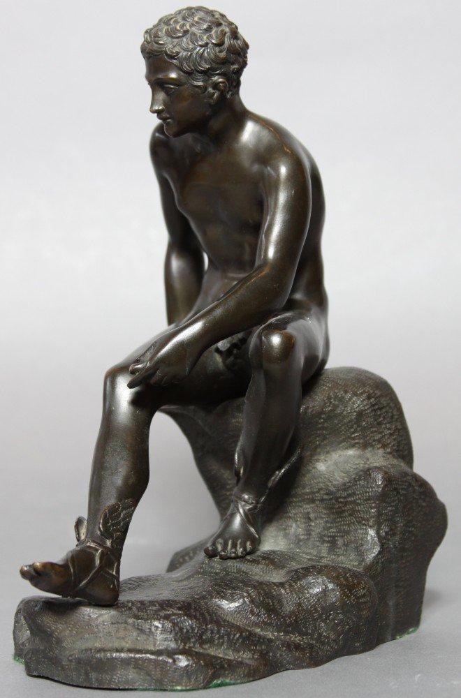 Grand Tour Bronze Figure of Mercury Seated